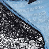Sexy Embroidery Lace Ice Silk Breathable Briefs Seamless Panties For Women