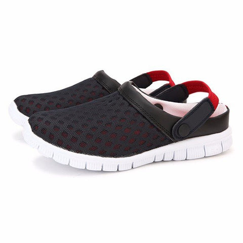 Men Mesh Breathable Color Match Open Heel Slip On Beach Slippers