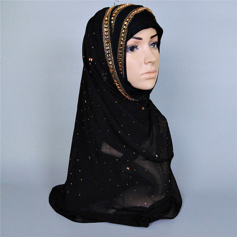 Big Large Maxi Long Wide Plain Viscose Scarf Muslim Headscarf - shechoic.com