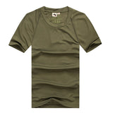 Men's Outdoor Hiking Solid Breathable Short-sleeved Sports T-shirt