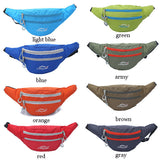 Men Multicolor Nylon Crossbody Bag Waist Bag Chest Pack
