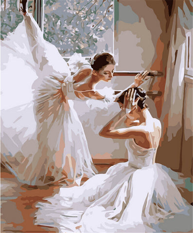 Digital Oil Painting Ballet DIY Oil Painting By Numbers Kits Dancing Frameless Canvas Home Wall Deco