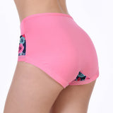 Plus Size Comfortable Breathable Printing Panties Mid Waist Underwear For Women