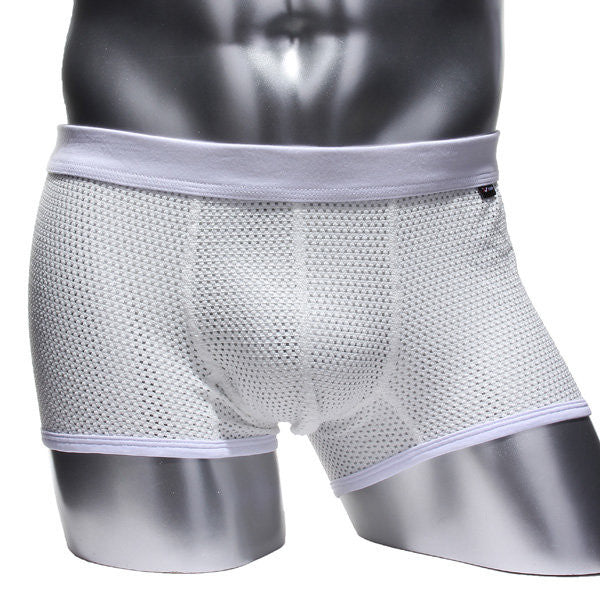 Men's Fashion Sexy Mesh Breathable Sports Soft Underwears