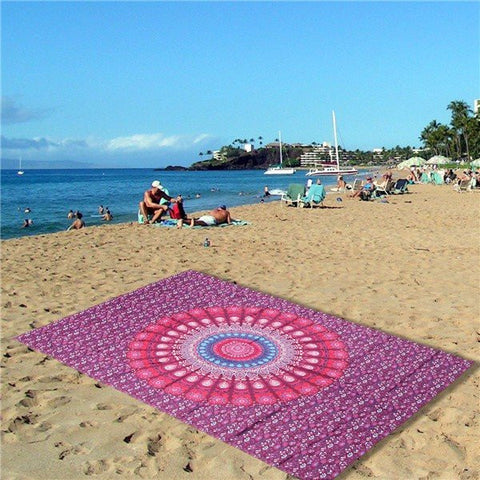 Beach Scarf Shawl Red Spa Bath Tapestry Swimming Hanging Towel Yoga Mat Decor - shechoic.com
