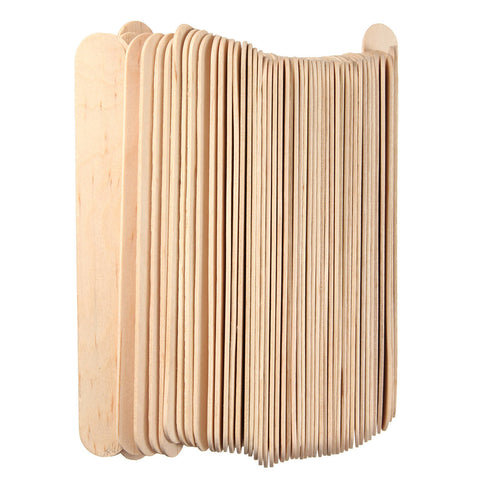 100Pcs 6 Inch Wooden Waxing Spatula Tongue Depressor Tattoo DIY Facial Mask Stick