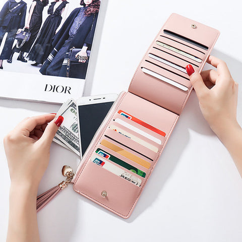 14 Card Slots Card Holder Phone Bags Elegant Wallet Purse