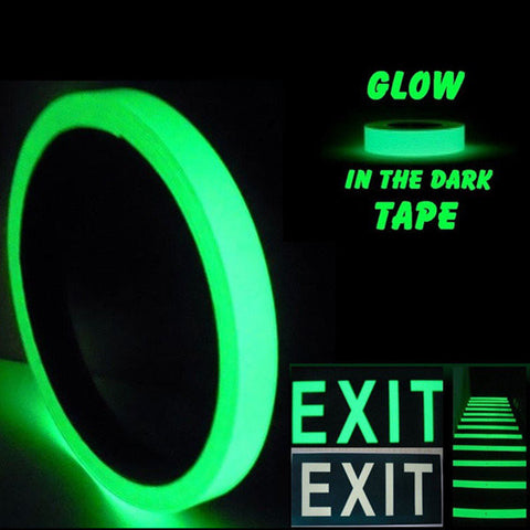 3mx12/15/20/30/40/5/100mm Luminous Tape Self-adhesive Glowing In The Dark Safety Stage Home Decor - shechoic.com