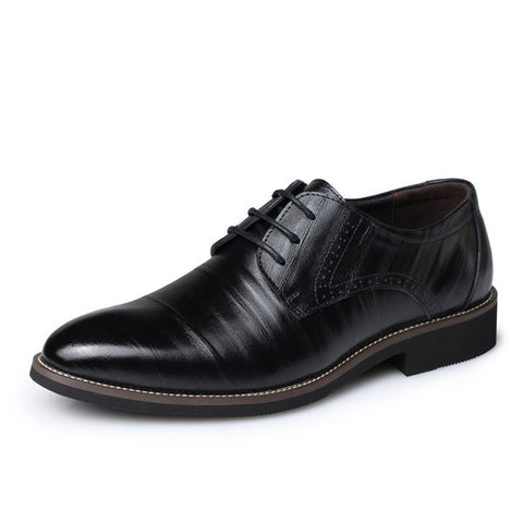 Men Color Match Formal Business Lace Up Casual Shoes