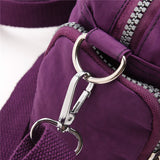 Women Multi-pocket Handbag Nylon Waterproof Lightweight Shoulder Bags Crossbody Bags