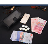 Men Business Long PU Leather Zipper Cards Holder Purse Handbag Wallet