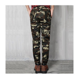Plus Size Mens Fashion Camouflage Outdoor Casual Elastic Waist Pencil Pants