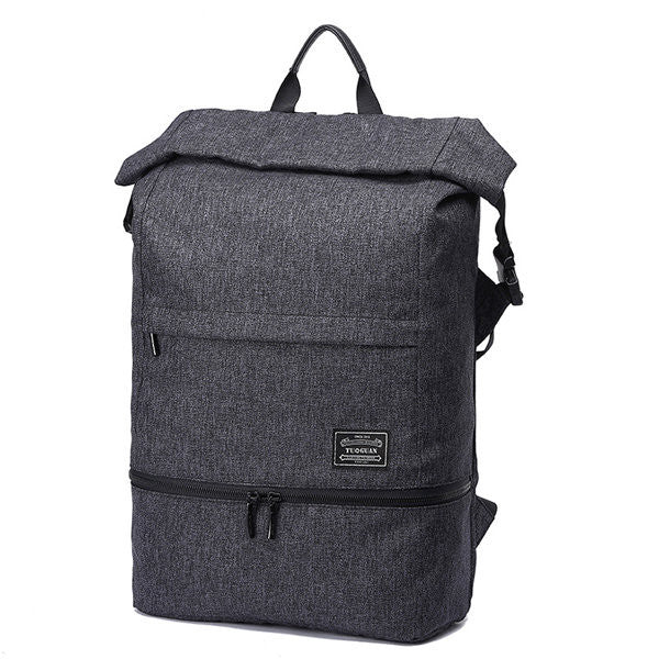 Canvas Multi-functional 18.5 Inch Laptop Bag Travel Waterproof Anti-theft Backpack For Men