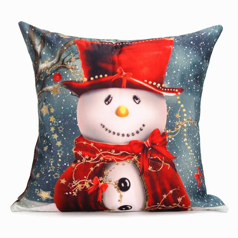Christmas Santa Claus Series Decorative Pillow Case Square Sofa Cushion Cover
