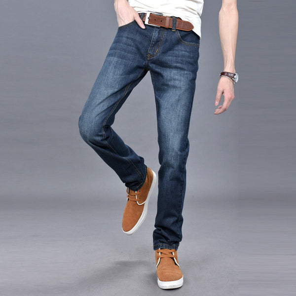 Men's Fall Winter Fashion Straight Retro Casual Washed Jeans