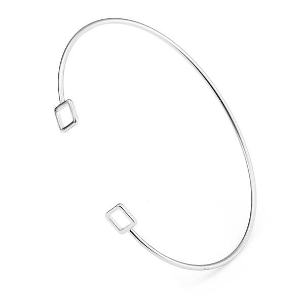 Vintage Simple Geometric Square Opening Bracelet for Women