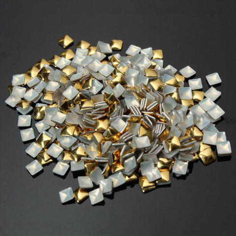 1000Pcs Square Metallic Gold Aluminum Nail Art Decoration Stickers