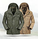 Men's Casual Outdoor Fast Drying Jacket Waterproof Removable Hood Military Coat Jackets