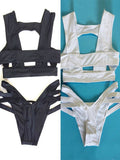Women Sexy Bandage Hollow Bikini Sets Cut Out Bathing Suit Swimwear