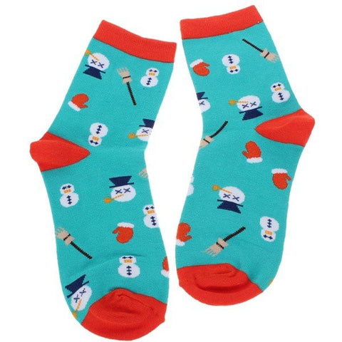 Cute Cartoon Christmas Series Snowman Casual Soft Cotton Socks Hosiery