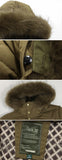 Men's Fashion Outdoor Down Big Pocket Thickened Warm Fur Hooded Coat