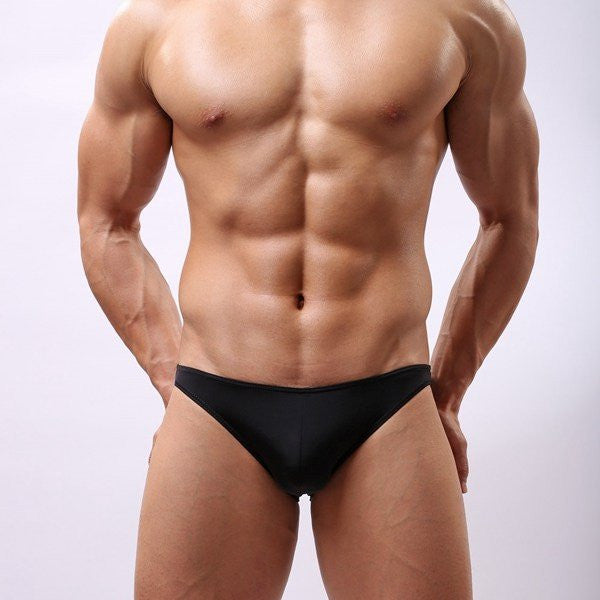 Men's Sexy Low-rise Briefs Smooth Soft Non-trace Breathable Underwears