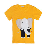 Elephant Baby Children Boy Pure Cotton Short Sleeve T-shirt Top