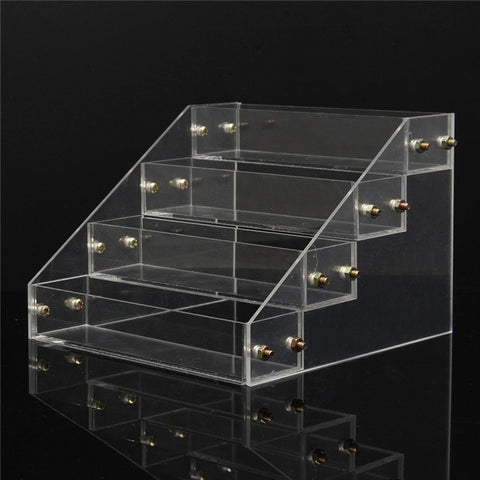 DANCINGNAIL 4 Tiers Clear Acrylic Nail Polish Stand Cosmetic Detachable Display Organizer