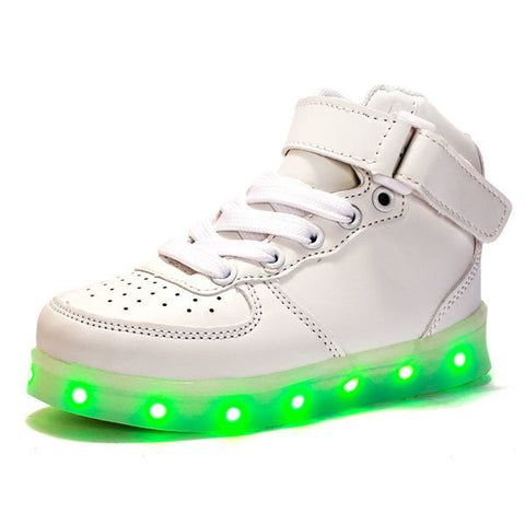 Children LED Light Shoes Boys Girls USB Charge Colorful Casual Sneakers
