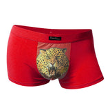Sexy Tiger Pinted Briefs Modal Mens Breathable Comfortable Underwears