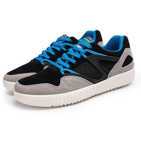 Men Color Match Breathable Comfortable Lace Up Casual Sport Shoes