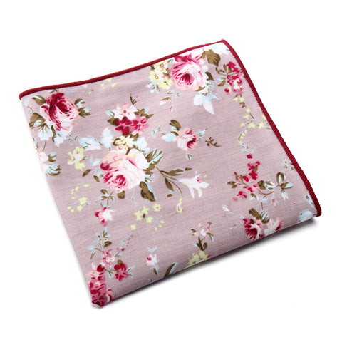 1 Pc Men Floral Cotton Pocket Square Handkerchief Wedding Hanky Suit Accessories - shechoic.com