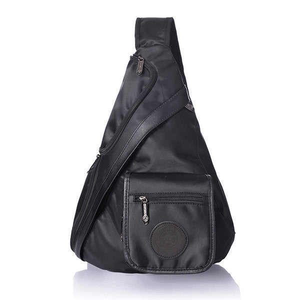 Men Nylon Casual Sports Black Casual Chest Bag Shoulder Bag Crossbody Bag