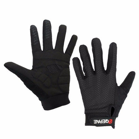 QEPAE Men Women Sunscreen Breathable Full Finger Gloves Outdoor Sports Riding Gloves