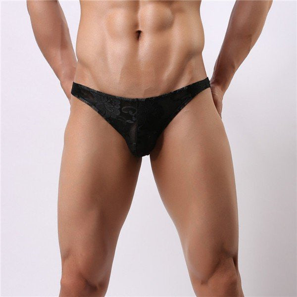 Men's Lace Sexy Charming Transparent Super-thin G-strings Thong Cool breathable Low-waist Briefs Und