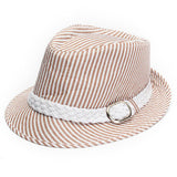 Kids Panama Hat Boy Girl Jazz Cap Cotton Trilby With Brim