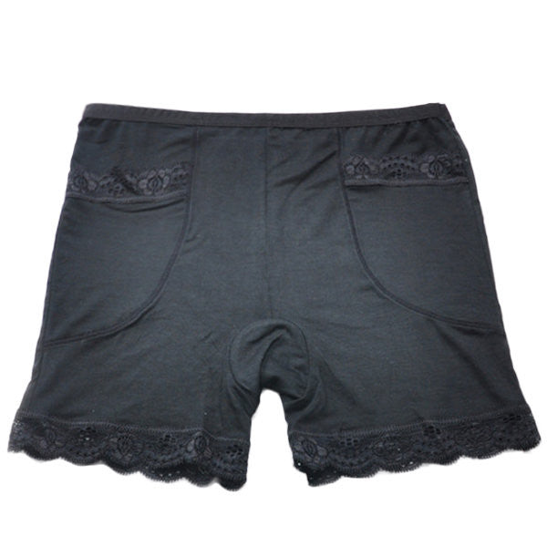 Women Sexy Lace Breathable Pocket Boyshorts Seamless Soft Modal Underwear