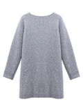 Knit Pullover Sweater White Lace Casual Two Pieces Dress