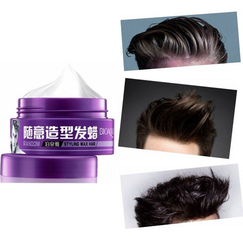 BIOAQUA Men Disposable Random Styling Fluffy Hair Wax Mud Stylish Shaped Strong Lasting