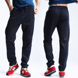 Men's Spring Summer Thin Casual Slim Knitting Drawstring Pants Cotton Sports Trousers