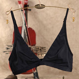 Women Sexy Cosy Wireless Unlined Bra Removable Halter Strap Ultra-thin Bras