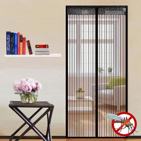 Noiseless Automatic Closing Magnetic Stripe Summer Anti-mosquito Window Net Sheer Door Curtain