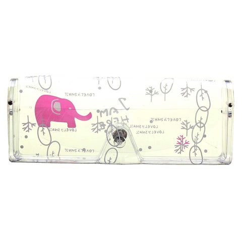 Cartoon Animal Patten Transparent Glasses Sunglass Storage Spectacle Case