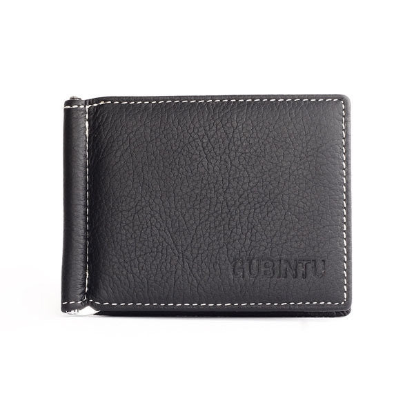 Men Genuine Leather Business Small Multifunctional Money bag Card Holders Wallet