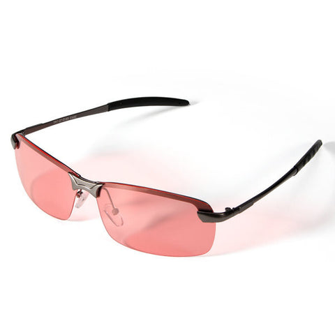 Men Night VISION Driving Fishing Cycling Red Lens Glasses Polarized Sunglasses