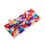 Girl Infant Floral Flower Bow Hairband Turban  Headband Accessories