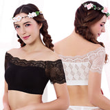 Sexy Lace Seamless Wrapped Chest Breathable Padding Tube Top For Women