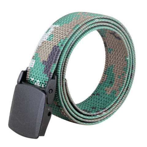 120CM Men Nylon Camouflage Belt Military Tactical Durable Buckle Pants Strip - shechoic.com