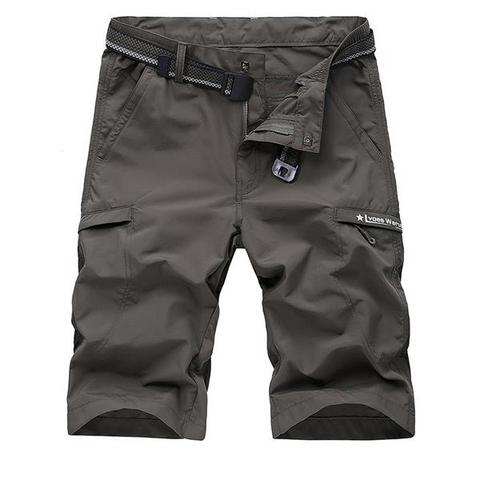 Big Size Summer Solid Color Outdoor Cotton Cargo Shorts For Men - shechoic.com