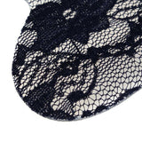 2 Pairs Soft Black Lace Women Shoe Heel Inserts Insoles Pads Feet Protector